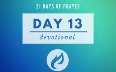 21 Days – Day 13